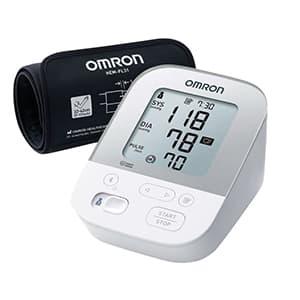 Misuratore di pressione OMRON X4 Smart su sfondo bianco